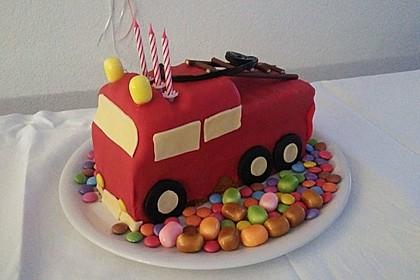 Feuerwehrauto Motivkuchen 10