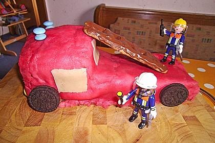Feuerwehrauto Motivkuchen 23