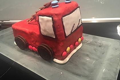 Feuerwehrauto Motivkuchen 7
