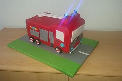 Feuerwehrauto Motivkuchen 1