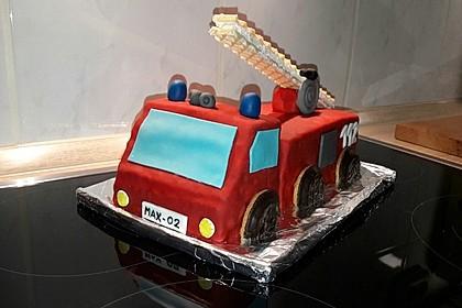 Feuerwehrauto Motivkuchen 6