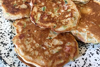 Zucchini-Schinken-Pfannkuchen für kleine Feinschmecker 1