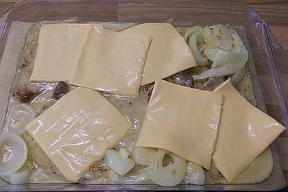 Koteletts in Estragon-Sauce mit Käse überbacken 2
