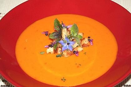 Kürbis-Mango-Kokos-Suppe (Bild)