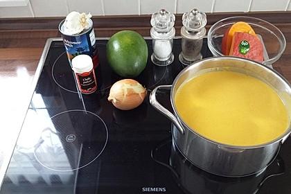 Kürbis-Mango-Kokos-Suppe 1
