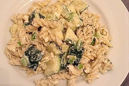 Gefüllte bunte Nudel-Schafskäse-Zucchini 1