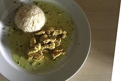 Putengeschnetzeltes mit Curry und Kokosmilch