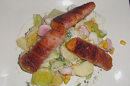 Leichter Kartoffelsalat mit Fischstäbchen 1