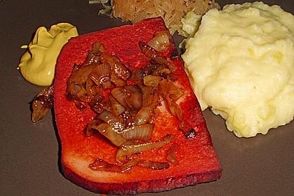 Bratkartoffeln mit Leberkäse und Bratensoße 2