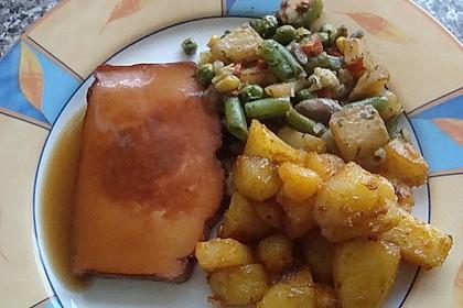 Bratkartoffeln mit Leberkäse und Bratensoße 3
