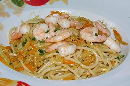 Sauerkrautspaghetti (Bild)