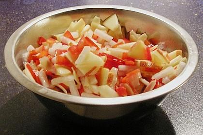 Rettich-Paprika-Apfel Salat
