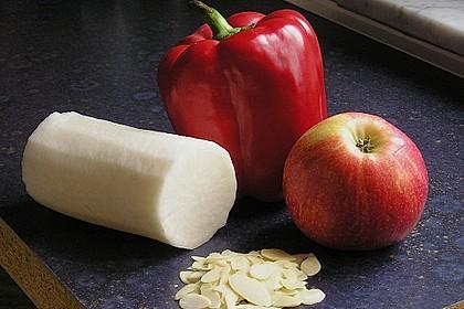 Rettich-Paprika-Apfel Salat 2