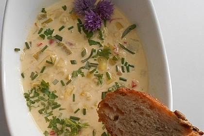 Käse-Lauch Suppe vegetarisch (Bild)