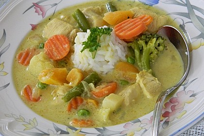 Curry-Hähnchen-Topf