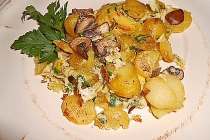 Champignon-Kartoffel-Omelette 1
