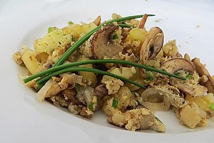 Champignon-Kartoffel-Omelette