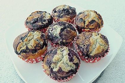 Blaubeer-Buttermilch Muffins 16
