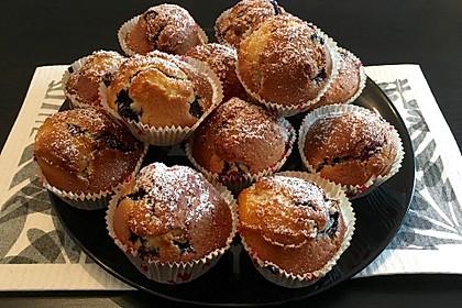 Blaubeer-Buttermilch Muffins 1