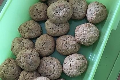 Haferflocken-Erdnuss Kekse 1
