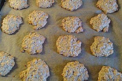 Haferflocken-Erdnuss Kekse 3