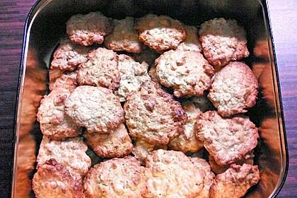Haferflocken-Erdnuss Kekse