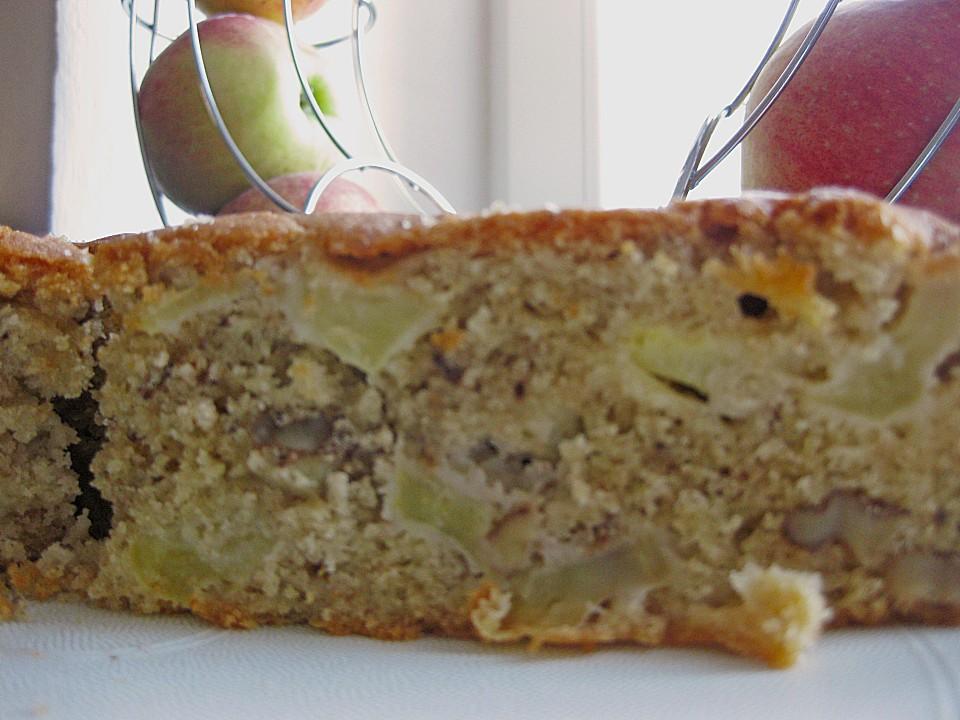 Apfel Walnuss Kuchen Von Timihund Chefkoch De