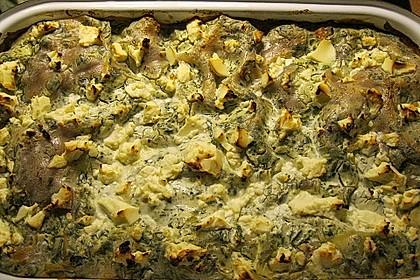 Hackfleisch-Spinat-Frischkäse Lasagne (Bild)