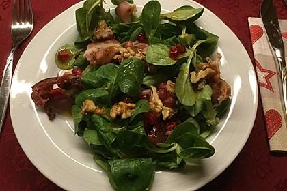 Weihnachtlicher Feldsalat mit Granatapfelkernen 22
