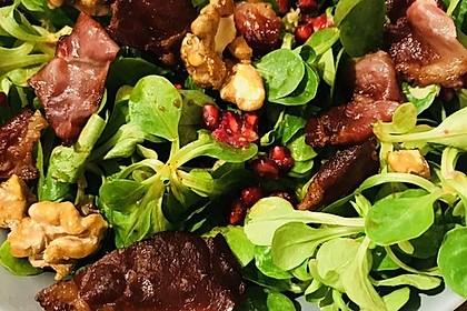Weihnachtlicher Feldsalat mit Granatapfelkernen 27