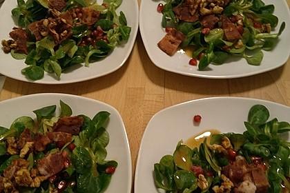 Weihnachtlicher Feldsalat mit Granatapfelkernen 28