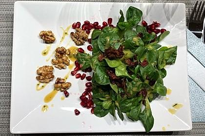 Weihnachtlicher Feldsalat mit Granatapfelkernen 18