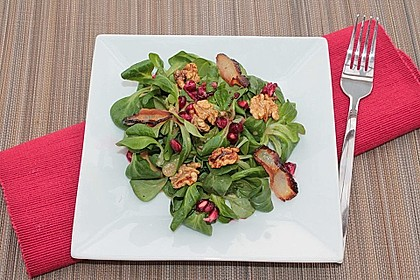 Weihnachtlicher Feldsalat mit Granatapfelkernen 11