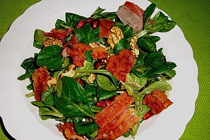 Weihnachtlicher Feldsalat mit Granatapfelkernen 5