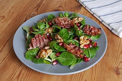 Weihnachtlicher Feldsalat mit Granatapfelkernen 2