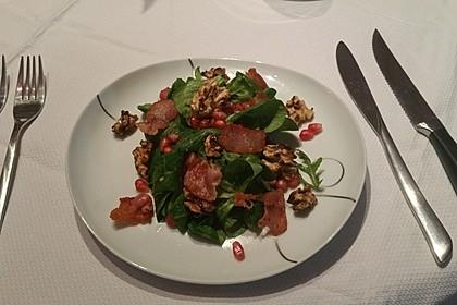 Weihnachtlicher Feldsalat mit Granatapfelkernen 20