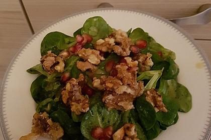 Weihnachtlicher Feldsalat mit Granatapfelkernen 26