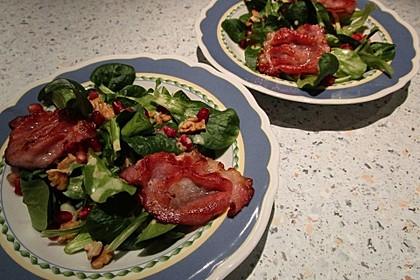 Weihnachtlicher Feldsalat mit Granatapfelkernen 23