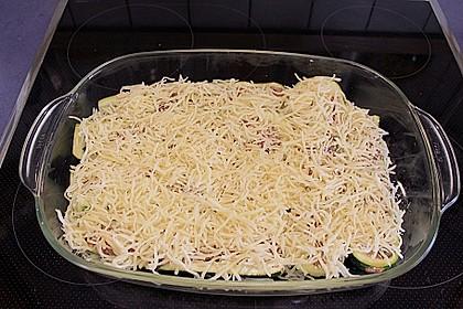 Gefüllte Zucchini mit Feta und Oliven 9