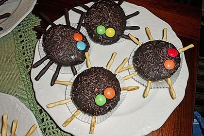 Spinnenmuffins für Halloween (Bild)