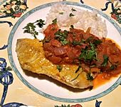 Rotbarsch in Tomatensoße indisch à la Gabi (Bild)