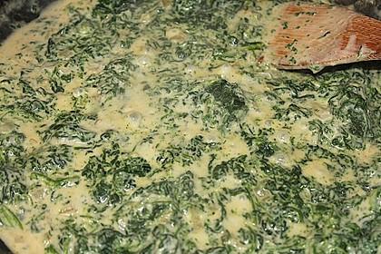 Nudeln mit Lachs und Spinat-Senf Sauce 2