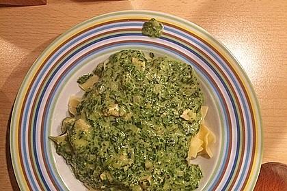 Nudeln mit Lachs und Spinat-Senf Sauce 1