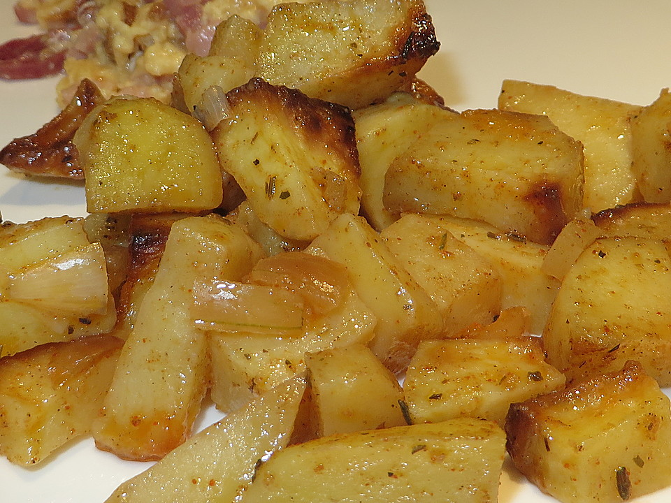 bratkartoffeln aus rohen kartoffel