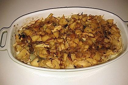 Steckrüben-Kartoffelgratin