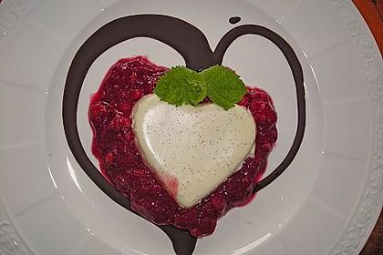 Mascarpone-Panna Cotta mit Erdbeersauce 1