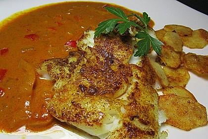 Pangasius in Kokos-Curry Soße