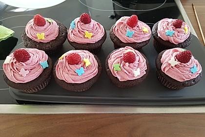 Schoko-küsst-Himbeer Cupcakes 20