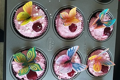 Schoko-küsst-Himbeer Cupcakes 80