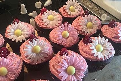 Schoko-küsst-Himbeer Cupcakes 25